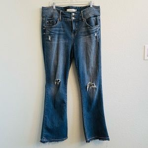 Torrid Distressed Bootcut Mid-Rise Jeans Size 18